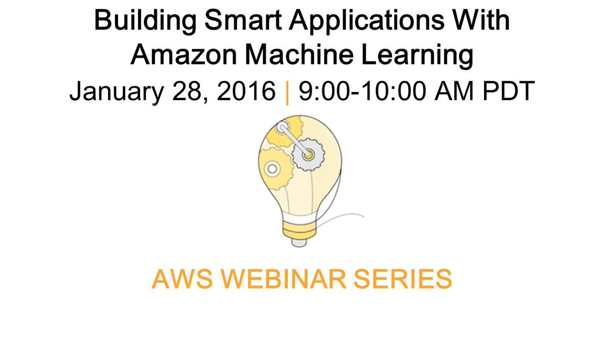 Amazon Web Services On Twitter Join Our Awswebinar Session