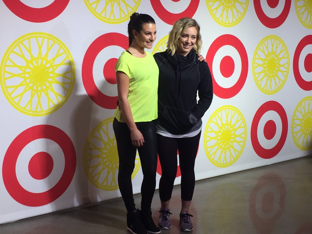 @msleamichele and @HilaryDuff looking adorable on the red carpet at #soulcyclextarget