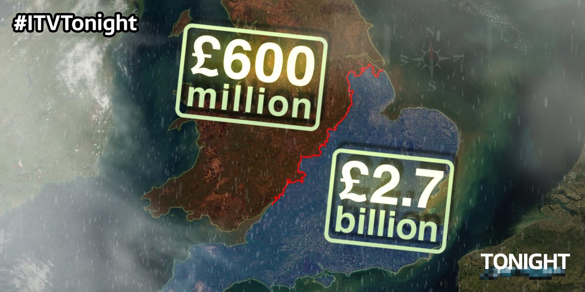 #ITVTonight figures show Environment Agency flood defence spending split between the North and South https://t.co/Ts4sTfSfc7