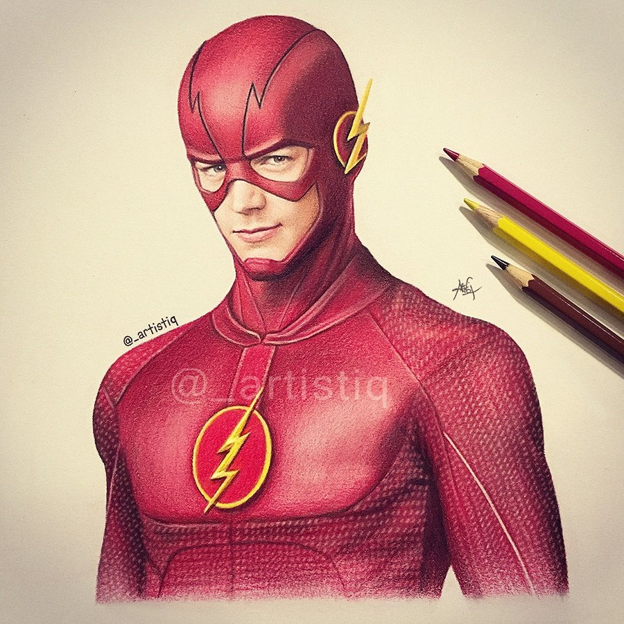 """Artistiq On Twitter: """"The Flash, Drawn With Colored"""