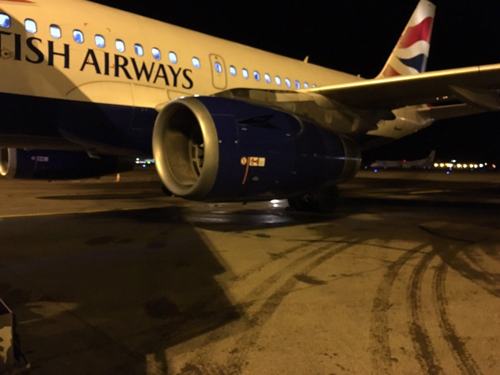 Mischievous traffic cone delays British Airways passengers for hours