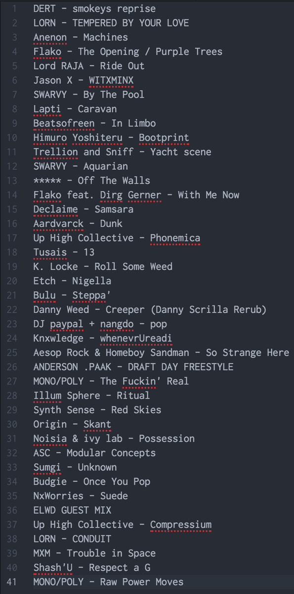 Track list for yesterdays show, for those who asked. https://t.co/UAu0yzfN1m https://t.co/LIO8m0g8bx