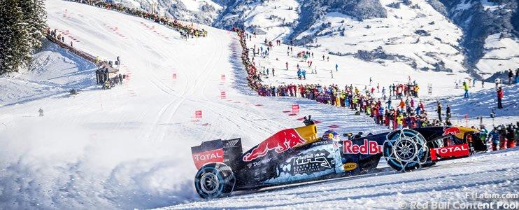 YouTube: Max Verstappen con la sua F1 sulla neve