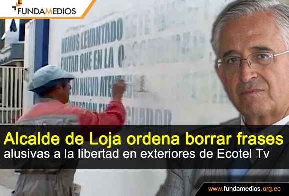 Fundamedios On Twitter Obreros Municipales Borraron Frases