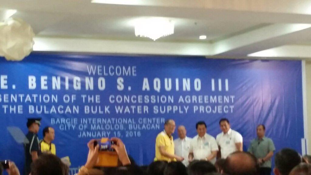 Earlier Presentation Of Bulacan Bulk Water Supply Concession