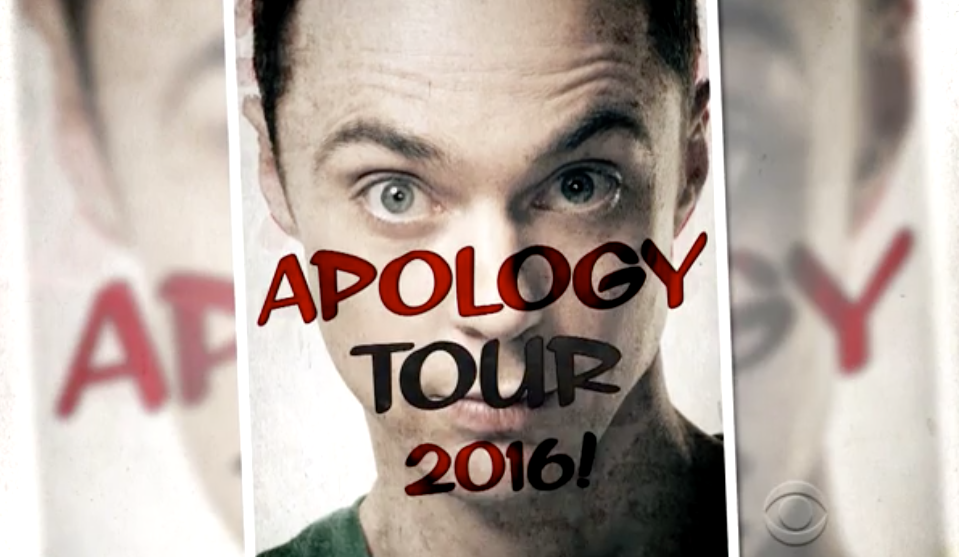 Sheldon Apology Tour