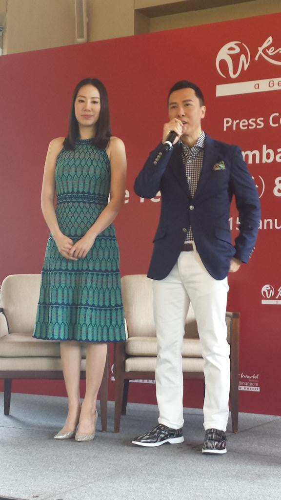 Donnie Yen & wife are in town- RWS brand ambassadors for 2016
