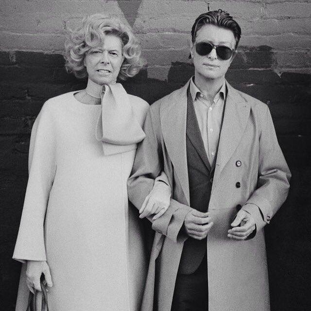David Bowie as Tilda Swinton and Tilda Swinton as David Bowie. You're welcome. https://t.co/siSayOMVlc