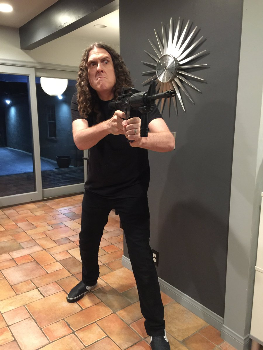 I went ahead and just upgraded to one of those new Weird Al home security systems.@alyankovic https://t.co/ye03vMy8vl