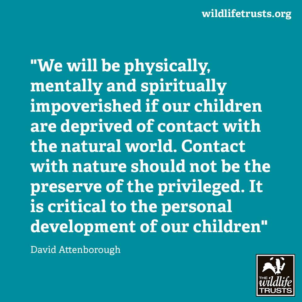 David Attenborough on the importance of contact with nature for children. Get out and enjoy winter! #everychildwild https://t.co/Y50Rcg0u04