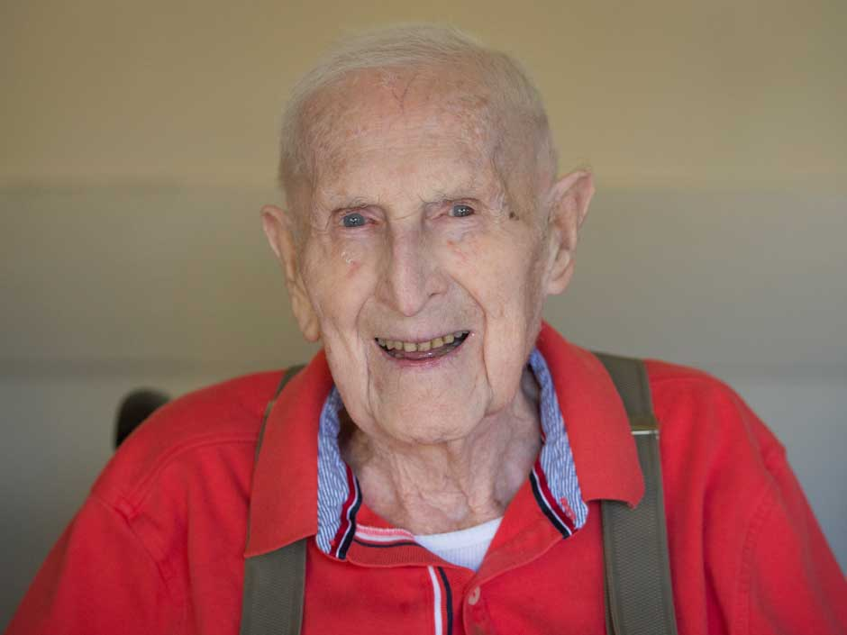Pictures of 100 year old man
