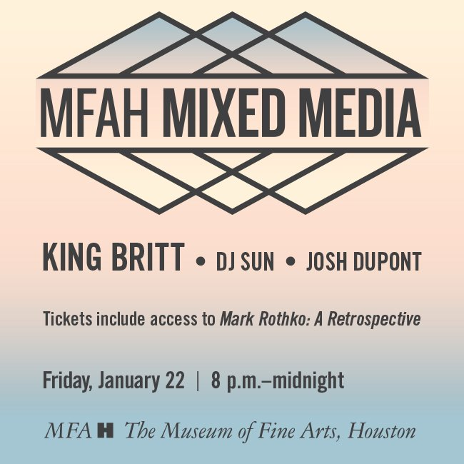 GIVEAWAY TIME! RT to enter to win 2 tickets to this Friday's #MFAHMixedMedia party. https://t.co/IWxOlKVI1N https://t.co/3AIt3KQHjy