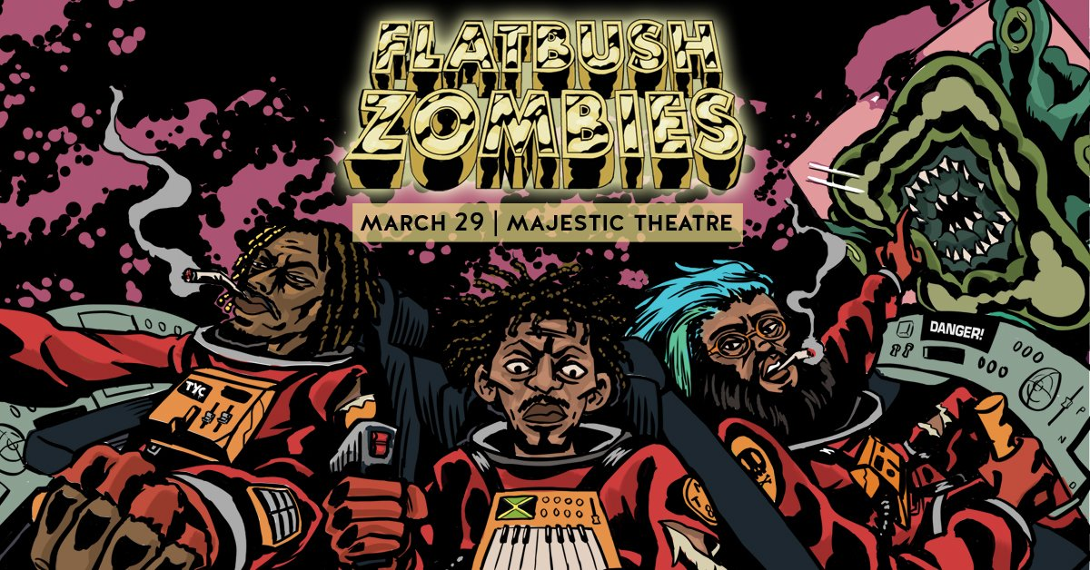 Tix for @FlatbushZombies 3/29/16 at Majestic Theatre are on sale now! https://t.co/lfxkPfkXrt https://t.co/oq6gfDRhRY