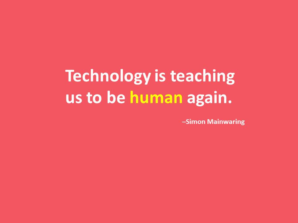 Deep! Tech can help define what is human. RT @ExhibitionNews: What do you think? #EventTech #eventprofs #technology https://t.co/6B7JiDEI2C
