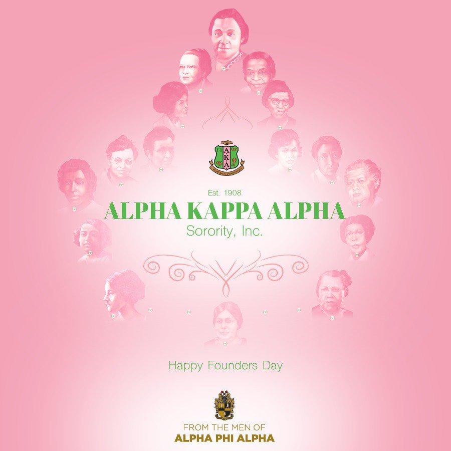 Happy Founders Day to the Ladies of Alpha Kappa Alpha Sorority. @akasorority1908 #AKA108 #AKA1908 https://t.co/YOft2t08Ke