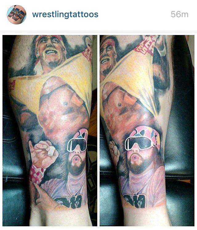 This is tremendous. @HulkHogan #tattoo #wwe #machoman #hulkhogan #megapowers https://t.co/Q9CYD7E0cB