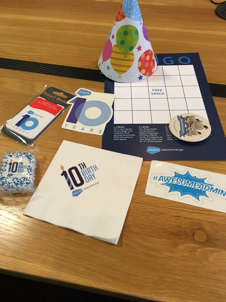 Celebrating the #appexchange10 at the Austin Nonprofit Salesforce User Group! https://t.co/syKj3vaNqo