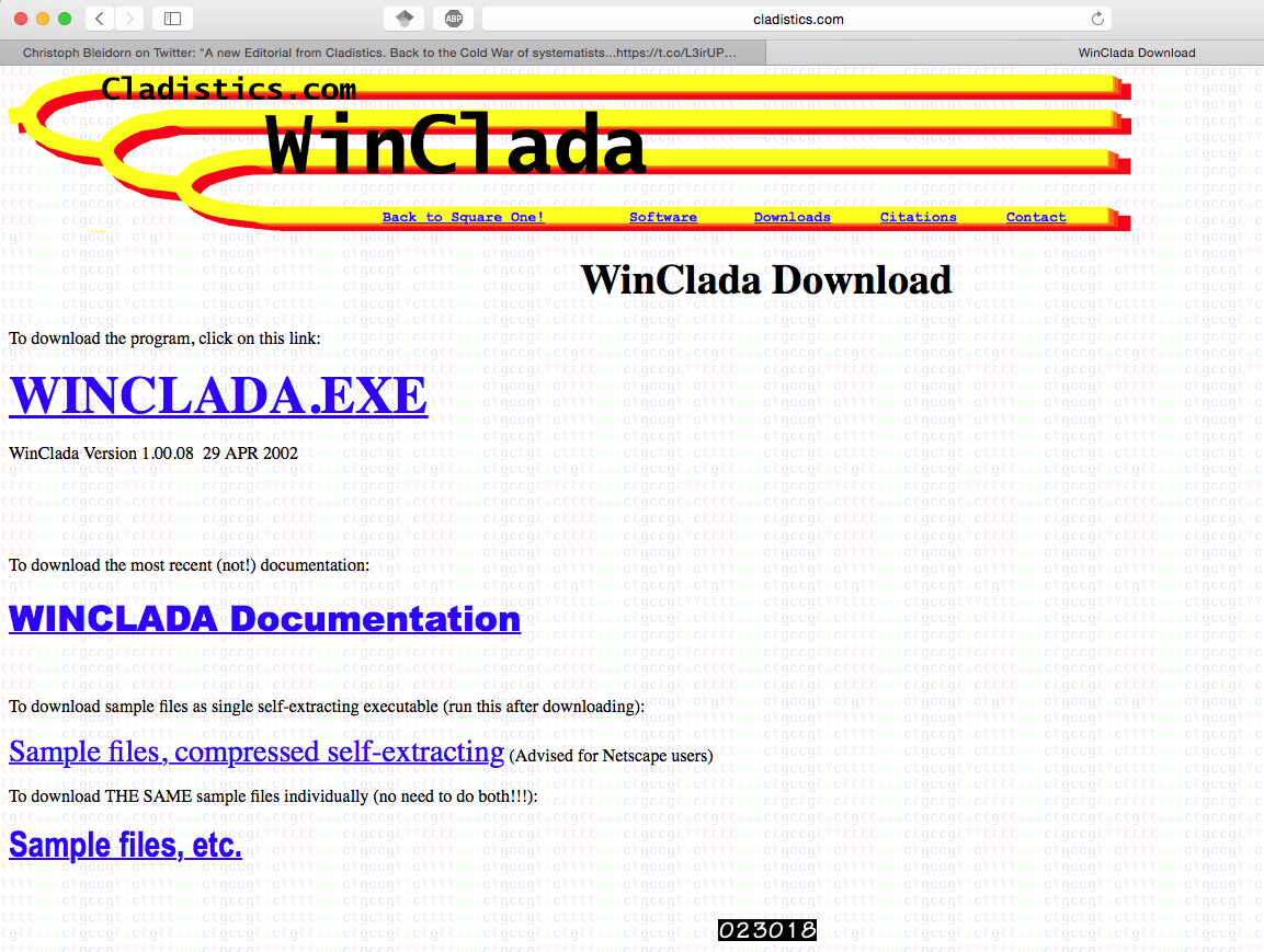 @C_Blei Oh, OK then. Winclada it is. Perfection achieved, 29 APR 2002. https://t.co/uQO8Ylv3F7