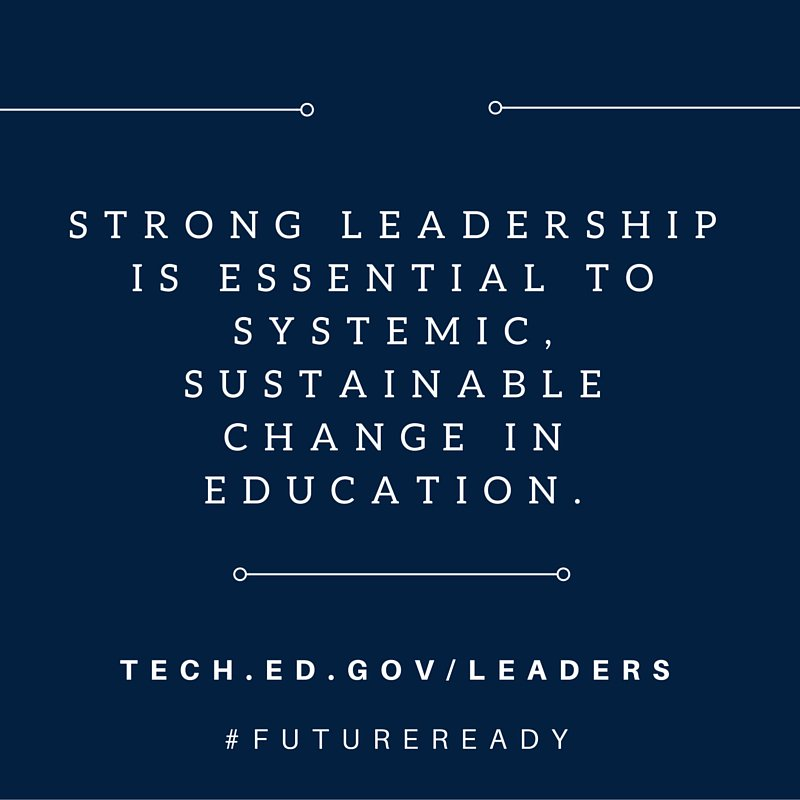 Strong school leadership is essential for strong #FutureReady schools. Learn more: https://t.co/poB9Bd5CfH #satchat https://t.co/li96shmhtB