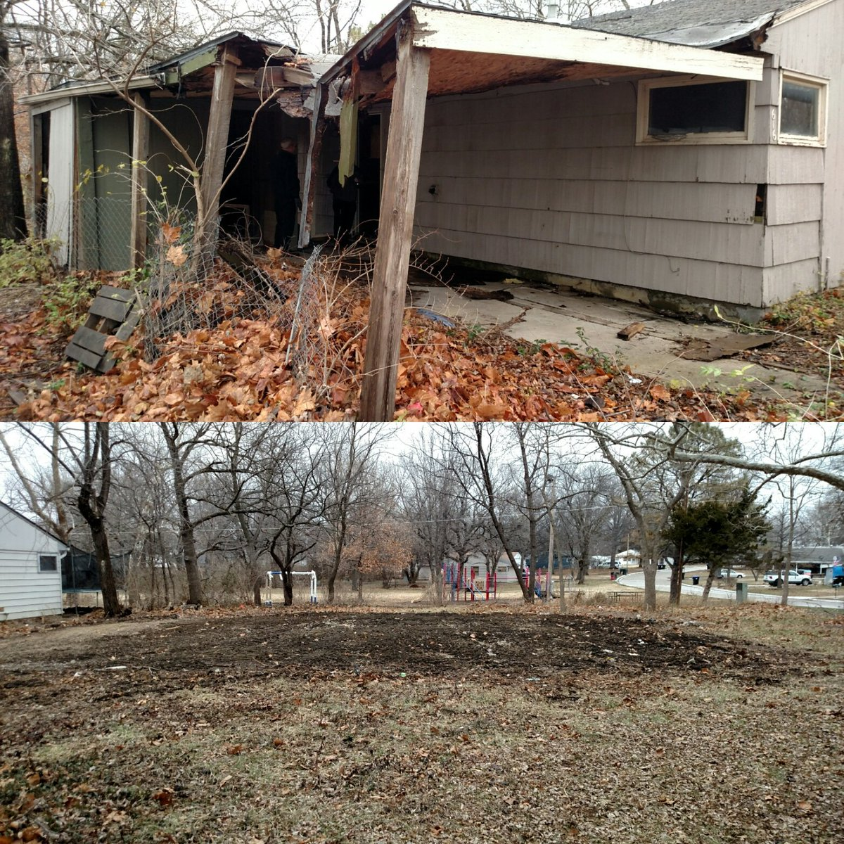 Remember that house on SE 34th #topeka demolished in December https://t.co/XDc7mDrNhY? Here's what it looks like now https://t.co/wnvDXcYewd
