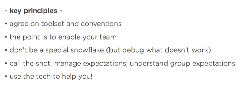 Just heard a great internal talk from @edd about effective team and remote collaboration. Here are his top 5 points. https://t.co/8l8hSxZZCT