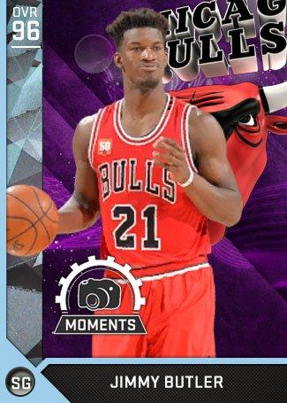 53/10/6 @JimmyButler Moments card is now in #NBA2K16 MyTEAM! RT this & I'll award one random fan his card. #MyTEAM https://t.co/sRMli3cTf3