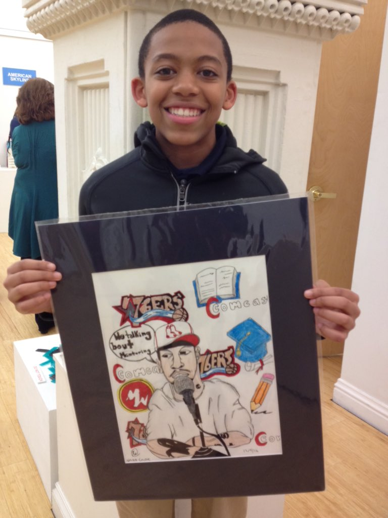 """Young artist Zakaa Cruse pays tribute @alleniverson & @MightyWriters mentor in """"The Answer"""" #sixersMAC @MBKPhilly https://t.co/tEGpKWOGDQ"""