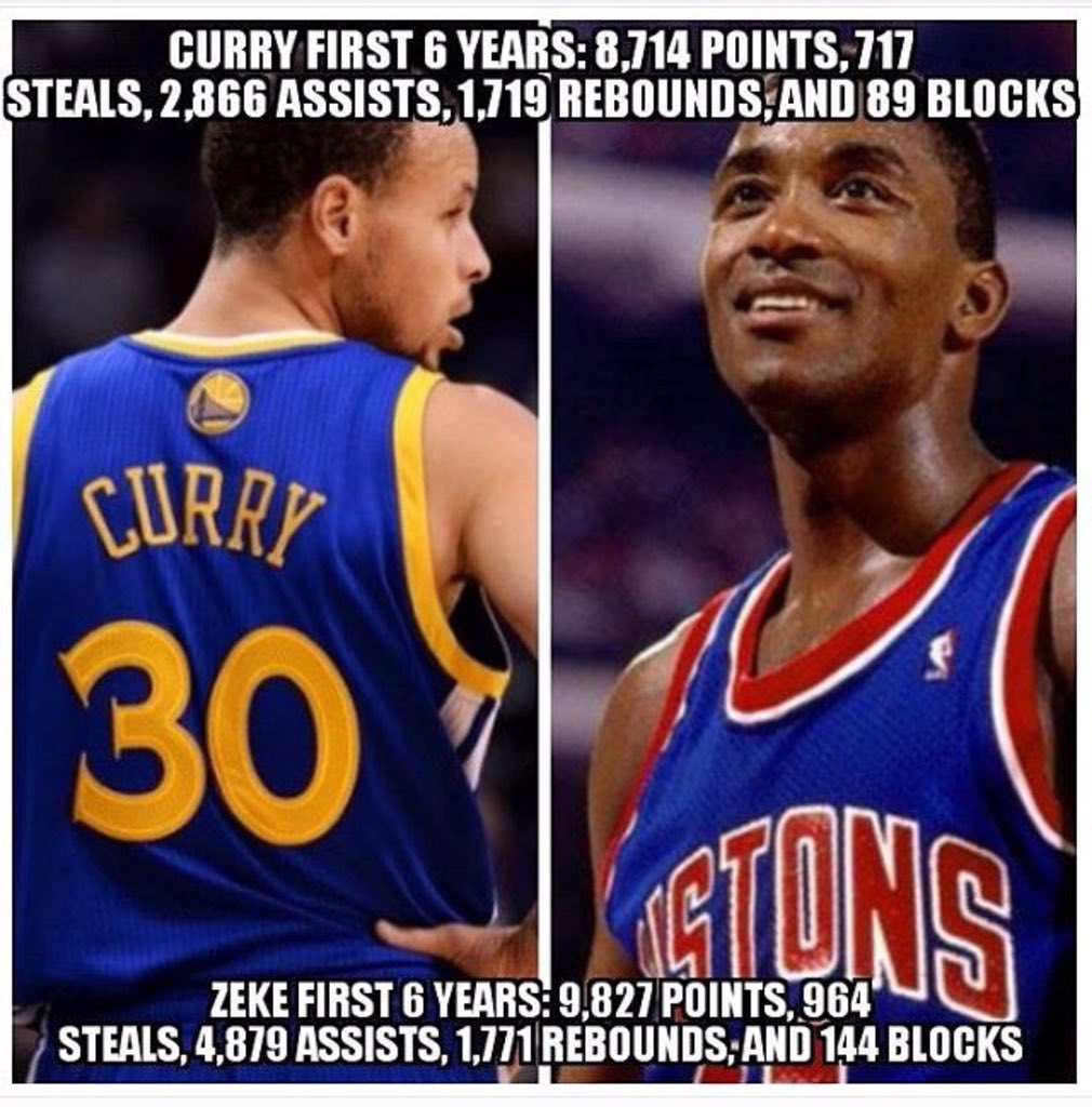I love Steph Curry, but don't be disrespectful.. @iamisiahthomas is definitely Top 3 All Time PG #DetroitBasketball https://t.co/MAkcSAuuWK