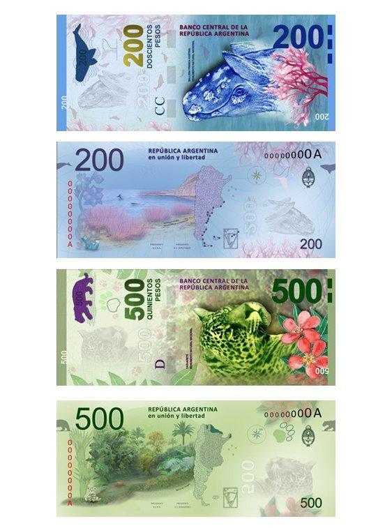 El Banco Central anunció que el diseño de los billetes de 200 y 500 reflejarán la fauna autóctona y diversas regiones del país.
