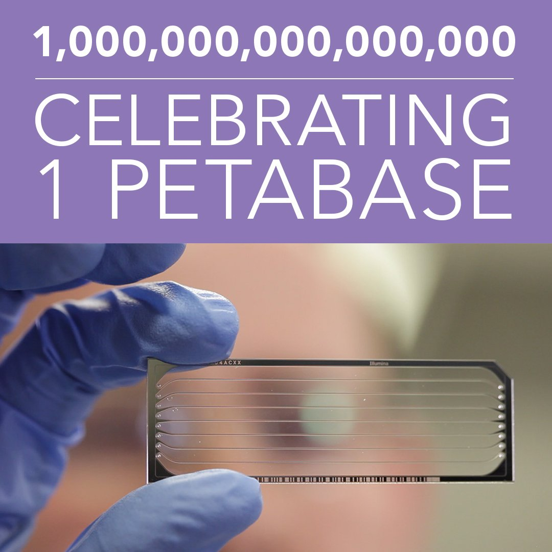 .@BCCancer_Agency GSC celebrates BIG milestone: generation of 1 PETABASE (1 quadrillion base pairs) of sequencing! https://t.co/uQBl1x9Q3H