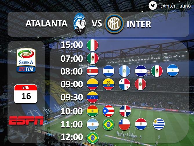 Rojadirecta Atalanta-Inter Streaming Diretta Calcio Oggi Serie A 16 01 2016
