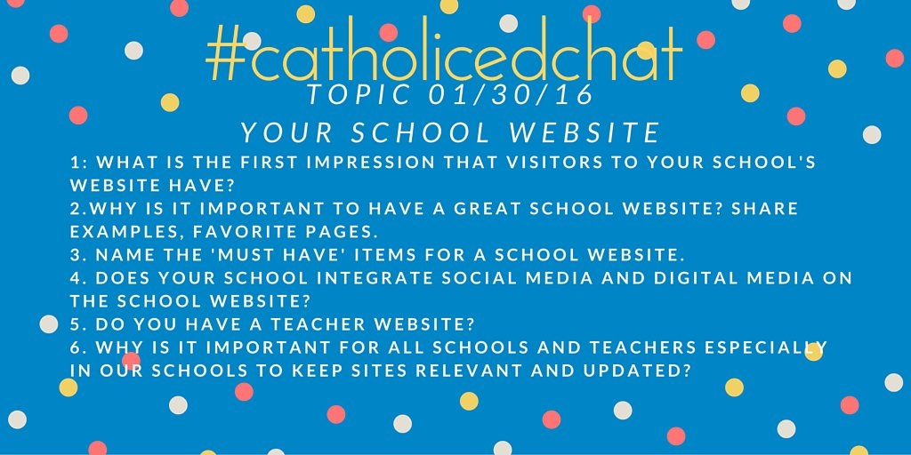 #catholicedchat Our questions for today https://t.co/XMtNjkCsUz