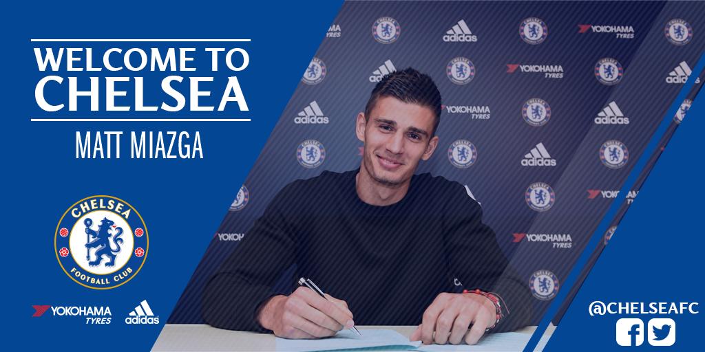 Welcome to @ChelseaFC, Matt Miazga! #CFC