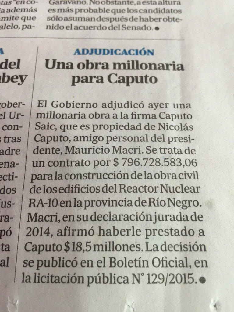 Chiquitito y abajo, en la página 18 de La Nación, la noticia más relevante de ayer. https://t.co/O74rfANeWy