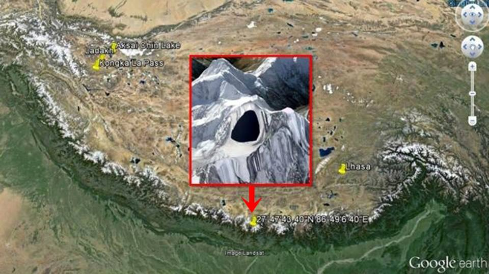 Google mostra una misteriosa macchia nera sull'Himalaya - Video YouTube