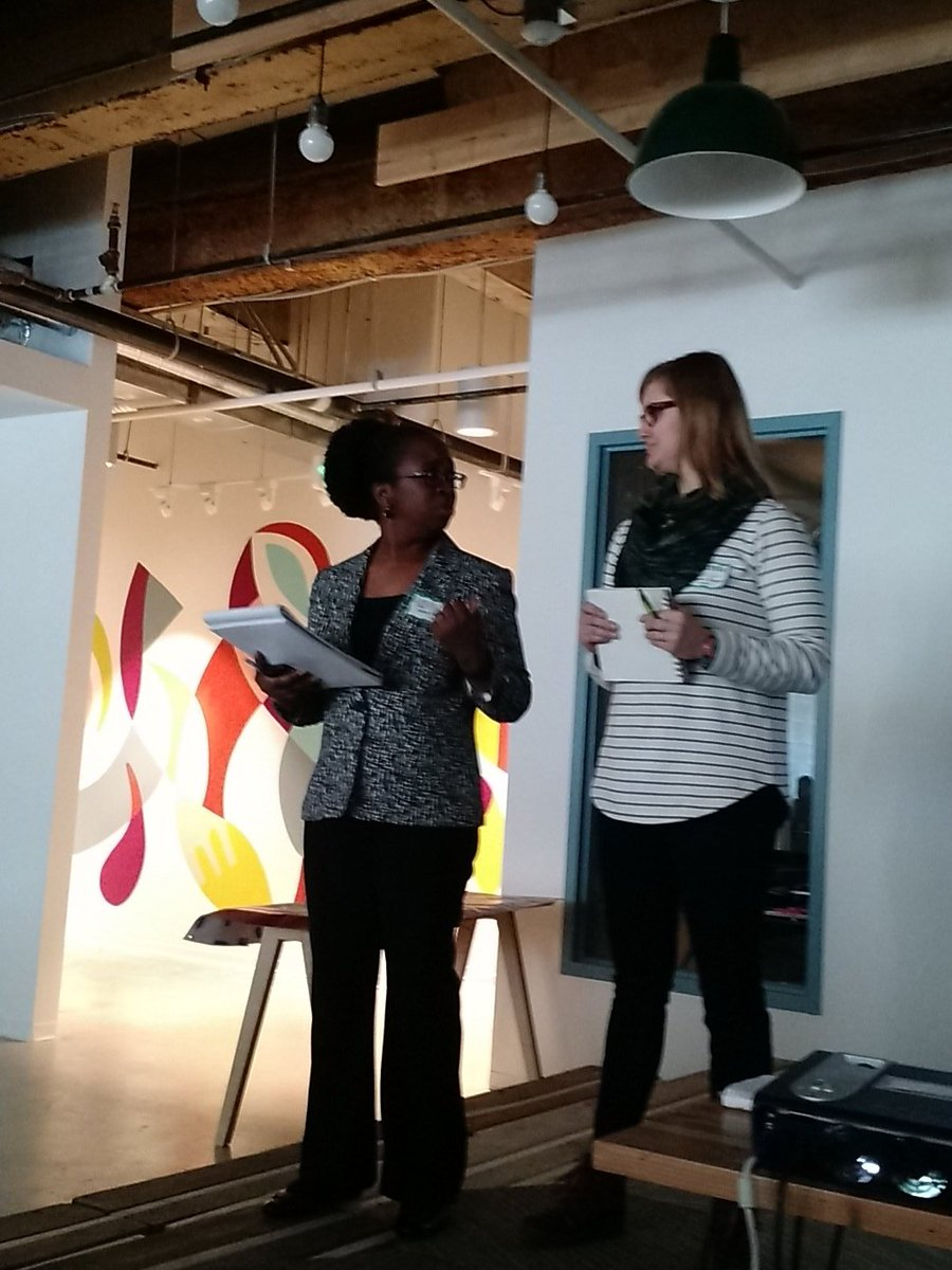 Meredith from Baltimore Bicycle Works and Dorcas from @basebaltimore kicking off the #wcjumpstart https://t.co/eDSNyMSVGl