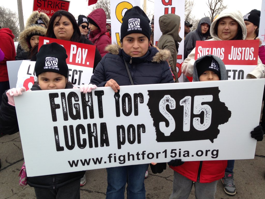 Why are you fighting for 15? Because it's just, and right. #FightFor15 #ialegis #iacaucus https://t.co/tPkE0LgBok