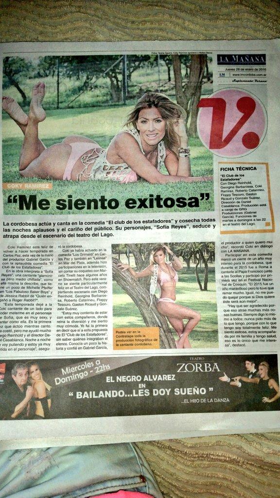 Edicion impresa @lmcordoba con la nota a @cokiramirez siempre diosa! Y clara en lo q dice! ✌✌ https://t.co/PFx7Qs1s0K