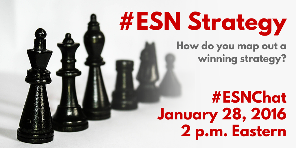 On today's #ESNchat we're discussing #ESN Strategy. https://t.co/7ns6PtMdSf