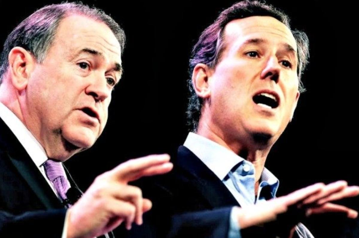 Santorum and Huckabee to attend Trump's veterans event