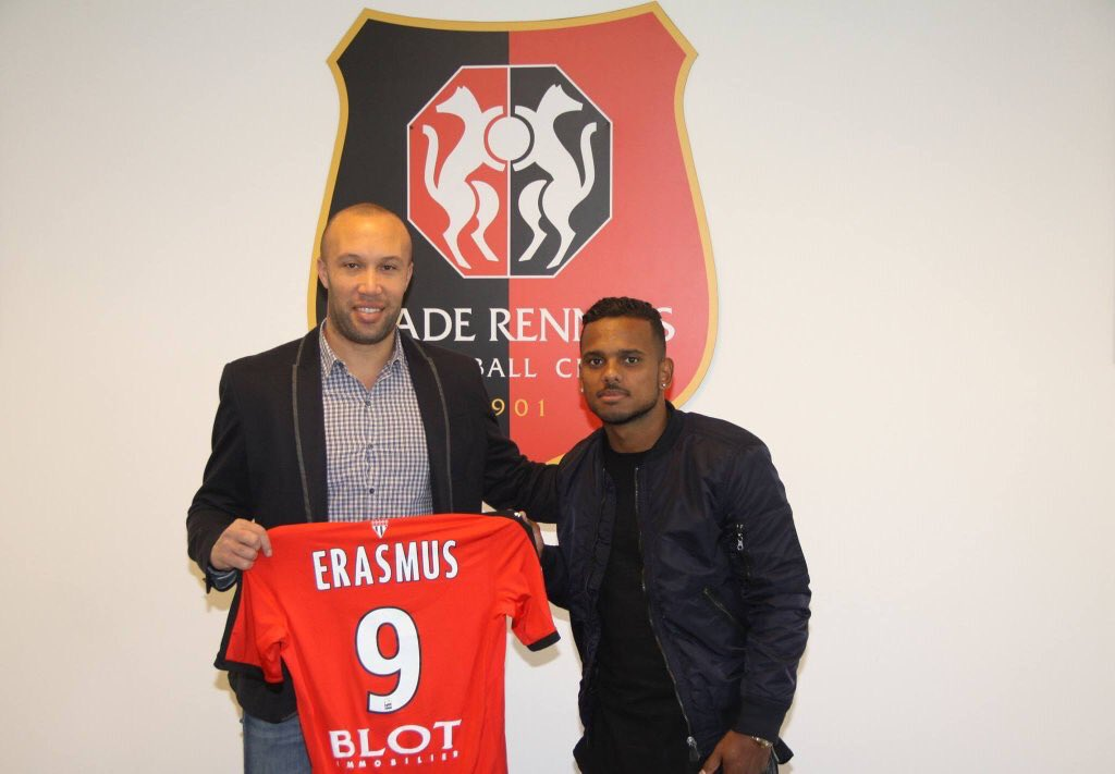 Breaking:  Kermit Erasmus has signed a two and a half year deal with French Ligue 1 outfit, Stade Rennais. #SLnews https://t.co/Rt8g2fCWzJ