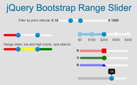 Price range slider bootstrap