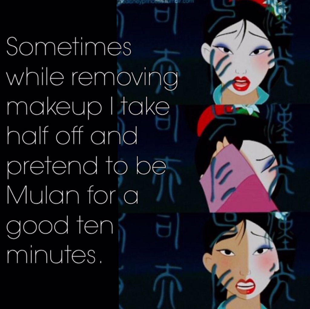 Sonia Roberts On Twitter I Do This Every Night Disney Mulan Makeup T Co Uzgwpbprdk