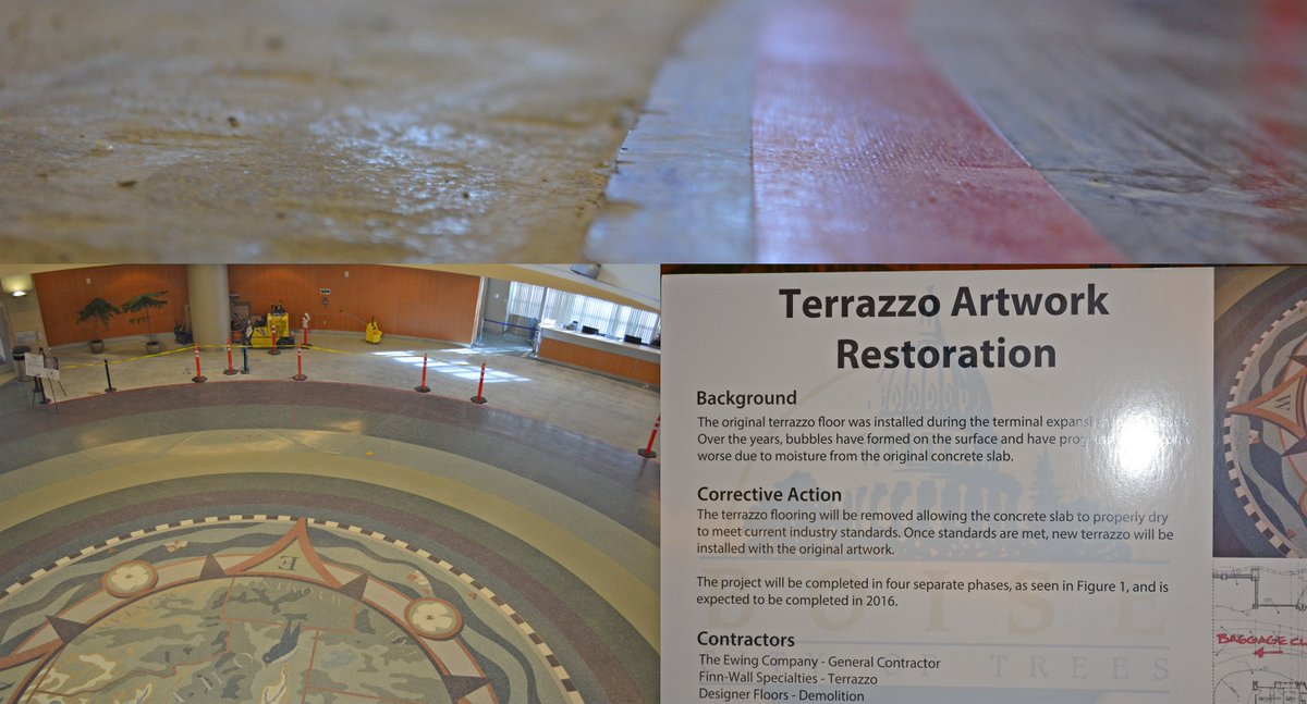 Boise Airport On Twitter We Are Restoring The Terrazzo