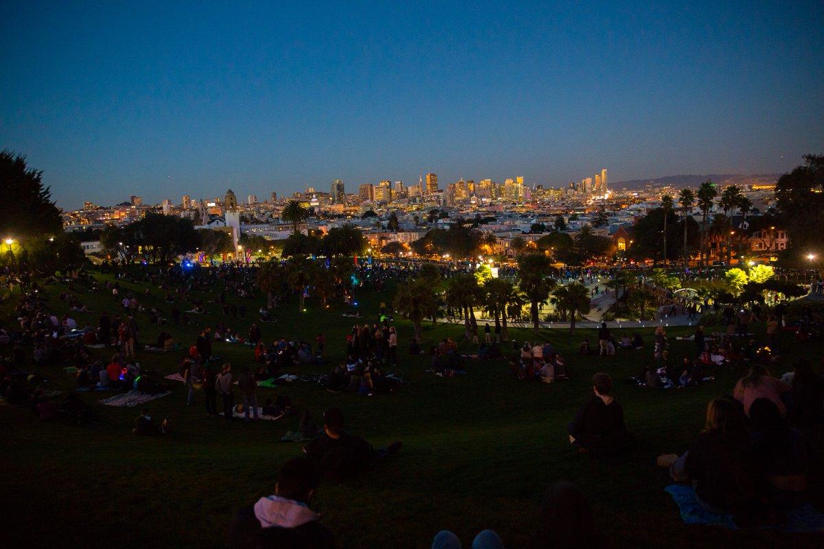 Dolores Park is fully open: playground, the north & south sides, bathrooms, dog play areas, sport courts & THAT view https://t.co/cil2PzTFz5