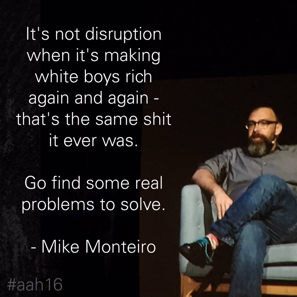 Copywriters should not design, so apologies for this effort. Great message, @monteiro #aah16 #aceshoelaces @aahconf https://t.co/qBSabqkMVy