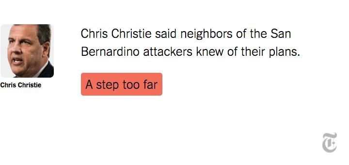 Fact Check: Chris Christie's comments on San Bernardino were a step too far https://t.co/ETdGZjhJ1P https://t.co/hHD4tuqRiR