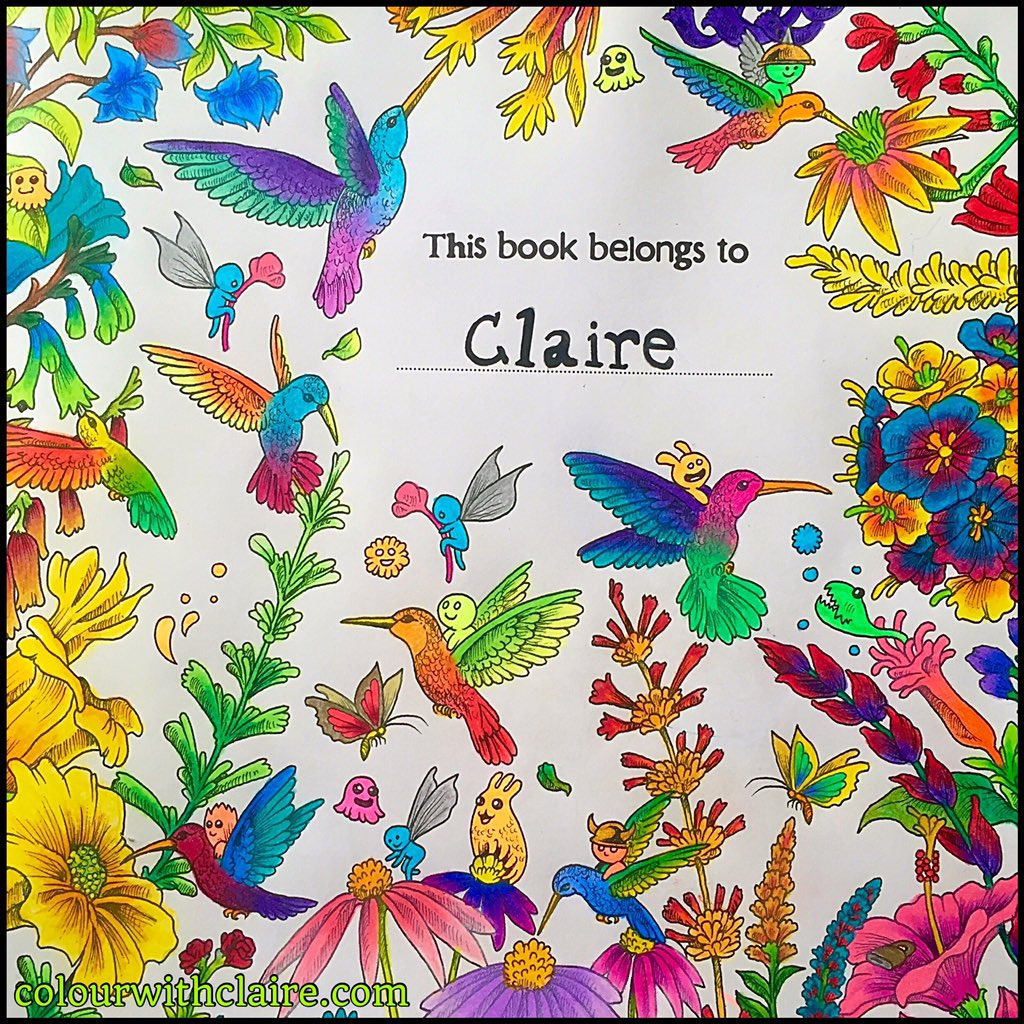 Colour With Claire On Twitter Finished Animorphia Kerbyrosanes Coloring Colouring Nature Birds Hummingbird Color Flowers