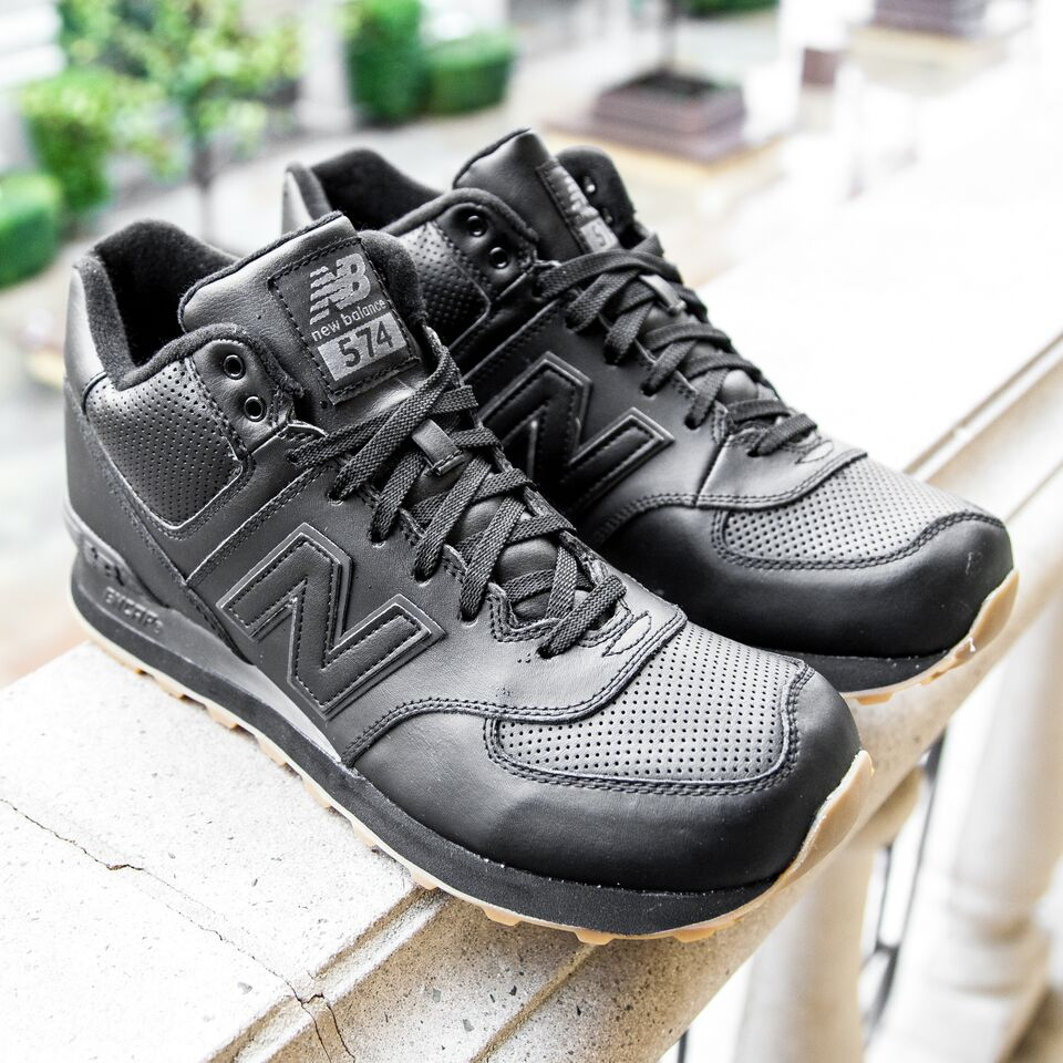 new balance 574 mid cut leather