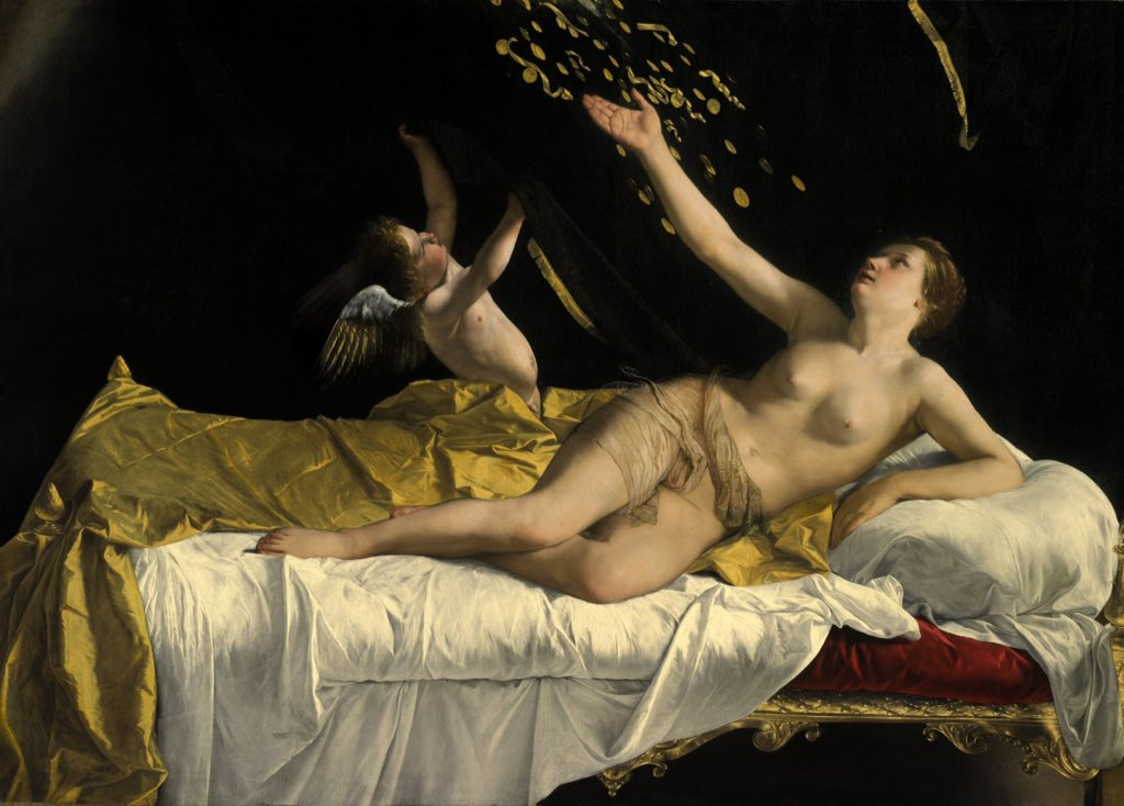 """""""Danae"""" di Gentileschi fa record all'asta"""